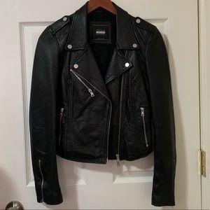 ZARA Real Leather Moto Jacket